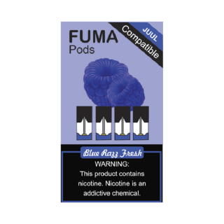 Картриджи для JUUL - FUMA Pods Blue Razz Fresh